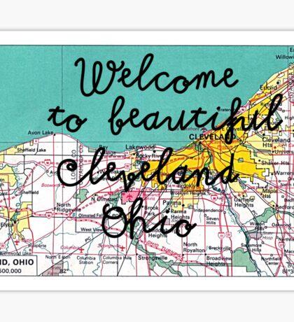Beautiful cleveland Sticker