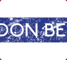 London Below Sticker