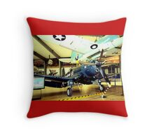 F4U-4 Corsair Throw Pillow