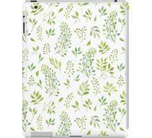 Watercolor leaves pattern iPad Case/Skin
