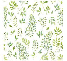 Watercolor leaves pattern by helga-wigandt