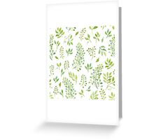Watercolor leaves pattern Greeting Card