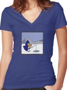 P.N.Guinn goes fishing Women's Fitted V-Neck T-Shirt