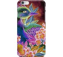 Paradise Bird in Blossoms iPhone Case/Skin