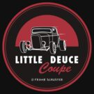Little Deuce Coupe Round Decal by Frank Schuster