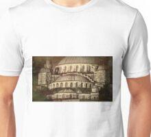 Istanbul Blue Mosque - Antiqued Print Unisex T-Shirt