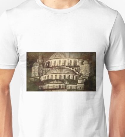 Istanbul Blue Mosque - Antiqued Print Unisex T-Shirt