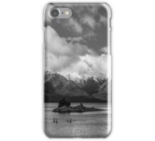 Lake Nahuel Huapi, Patagonia, Argentina (Black & white) iPhone Case/Skin