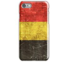 Vintage Aged and Scratched Belgian Flag iPhone Case/Skin