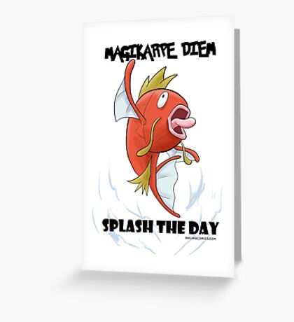 Magikarpe Diem Greeting Card