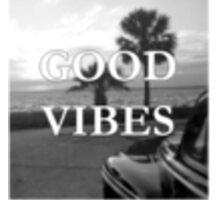 Good Vibes Black & White Sticker