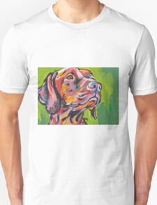 Vizsla Dog Bright colorful pop dog art T-Shirt