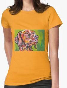 Vizsla Dog Bright colorful pop dog art Womens Fitted T-Shirt