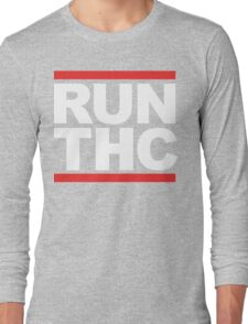 RUN THC (Parody) White Ink Long Sleeve T-Shirt