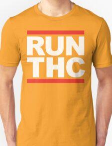 RUN THC (Parody) White Ink Unisex T-Shirt