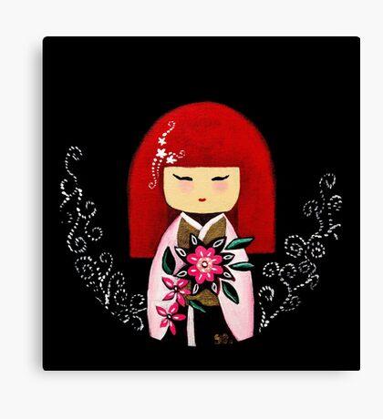 Red Kimi Doll Canvas Print