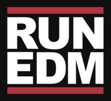 RUN EDM (Parody) White Ink by FreshThreadShop