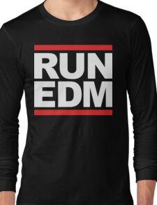 RUN EDM (Parody) White Ink Long Sleeve T-Shirt