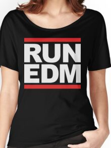 RUN EDM (Parody) White Ink Women's Relaxed Fit T-Shirt