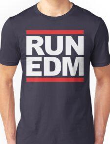 RUN EDM (Parody) White Ink Unisex T-Shirt