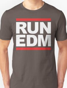 RUN EDM (Parody) White Ink Unisex T-Shirt