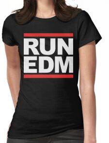 RUN EDM (Parody) White Ink Womens Fitted T-Shirt