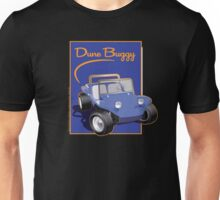 Dune Buggy Blue in Blue Box w Script Unisex T-Shirt