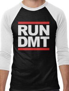 RUN DMT (Parody) White Ink Men's Baseball ¾ T-Shirt