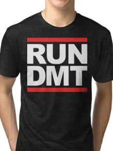 RUN DMT (Parody) White Ink Tri-blend T-Shirt