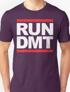 RUN DMT (Parody) White Ink Unisex T-Shirt