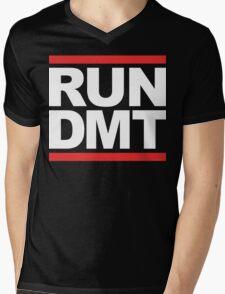 RUN DMT (Parody) White Ink Mens V-Neck T-Shirt