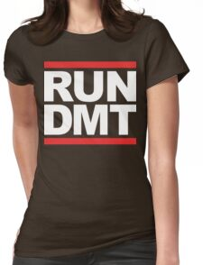 RUN DMT (Parody) White Ink Womens Fitted T-Shirt
