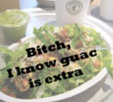 Bitch I Know Guac Is Extra Sticker