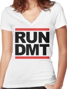 RUN DMT (Parody) Women's Fitted V-Neck T-Shirt