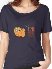 Owl wisdom. Find a perfect angle. Women's Relaxed Fit T-Shirt