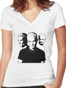 A Trio of Spike Women's Fitted V-Neck T-Shirt