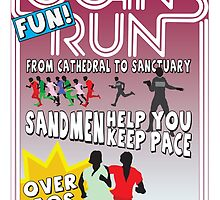 Logan's Fun Run - Parody Poster - Funny Reference to Classic Scifi Film by Kelmo