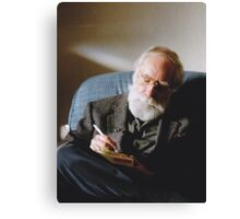 Father (Christmas 2006, North Saanich, Vancouver Island, British Columbia, Canada) Canvas Print