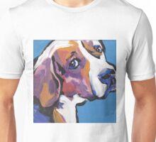 Beagle Dog Bright colorful pop dog art Unisex T-Shirt