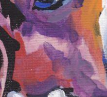 Beagle Dog Bright colorful pop dog art Sticker