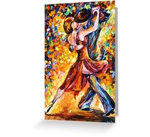 IN THE RHYTHM OF TANGO - Leonid Afremov Greeting Card