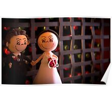 Bride and groom dolls Poster