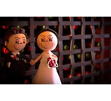 Bride and groom dolls Photographic Print