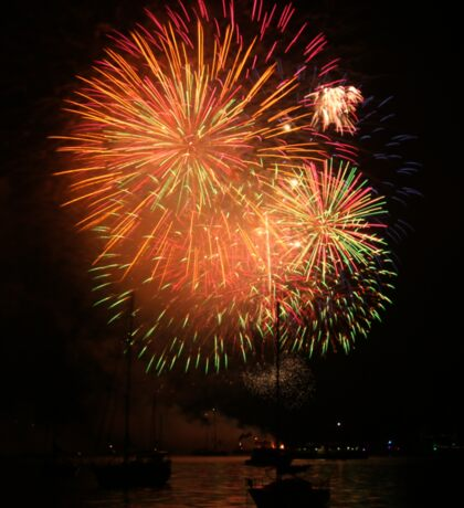 Colourful Fireworks on the Harbour Sticker