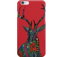 poinsettia deer red iPhone Case/Skin