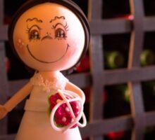 Bride and groom dolls Sticker