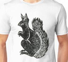 Squirrel Lino Print Unisex T-Shirt