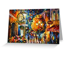 CAFE IN THE OLD CITY - Leonid Afremov Greeting Card