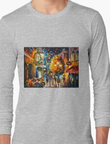 CAFE IN THE OLD CITY - Leonid Afremov Long Sleeve T-Shirt