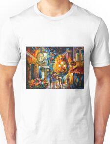 CAFE IN THE OLD CITY - Leonid Afremov Unisex T-Shirt